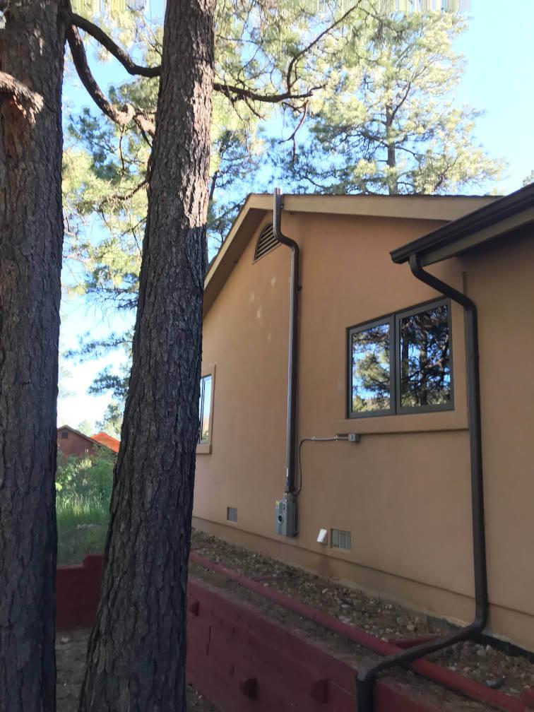 A custom home radon mitigation system