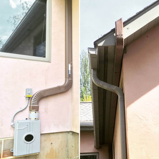 Example home radon mitigation system installation